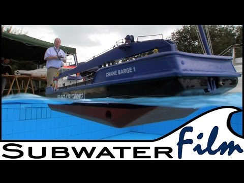 EXTREME rare rc MODEL: Die Crane Barge von Sievers - SUBWATERFILM