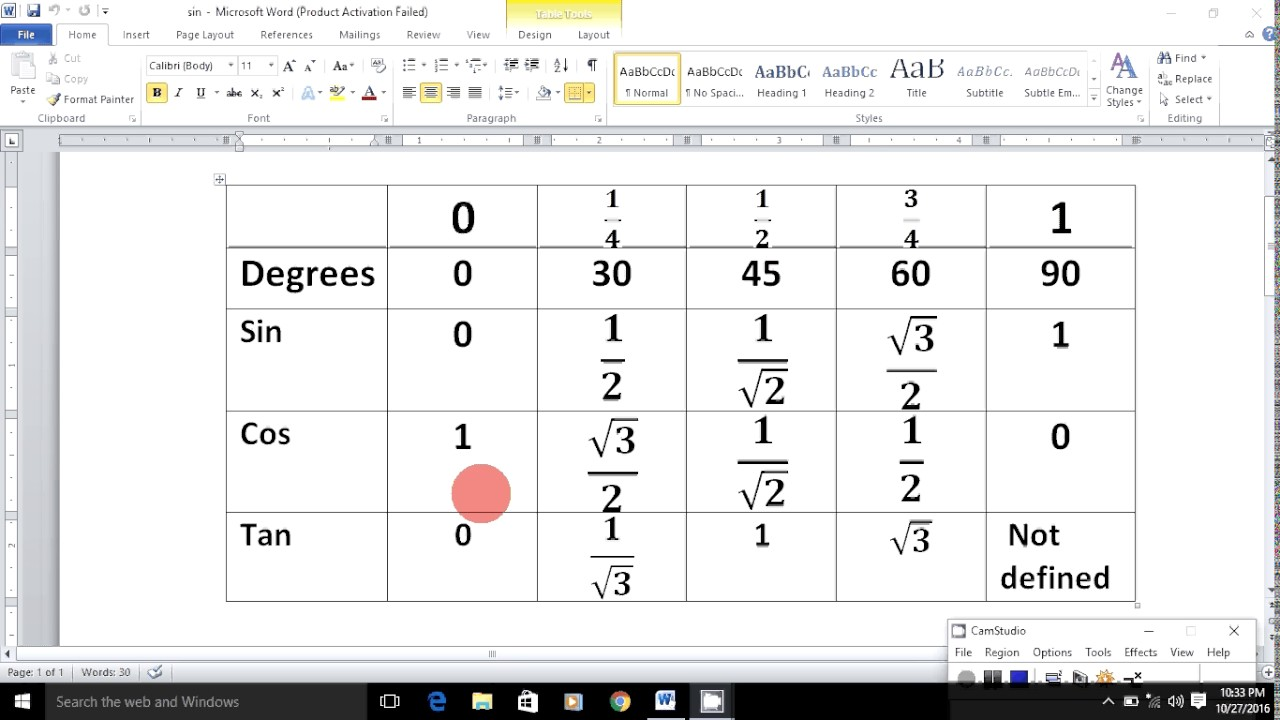 Easy way to find out sin cos tan values - YouTube
