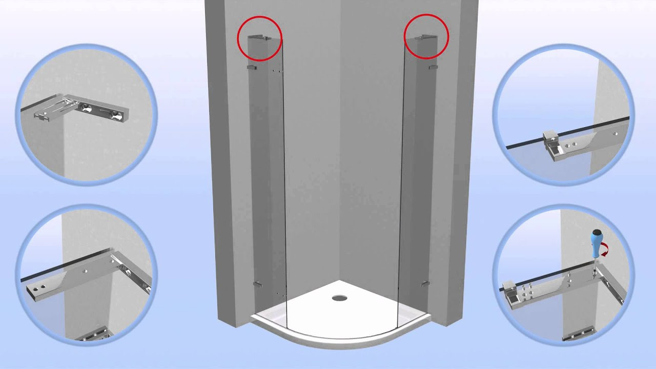 bathstore: how to install shower enclosures - Liquid range - YouTube