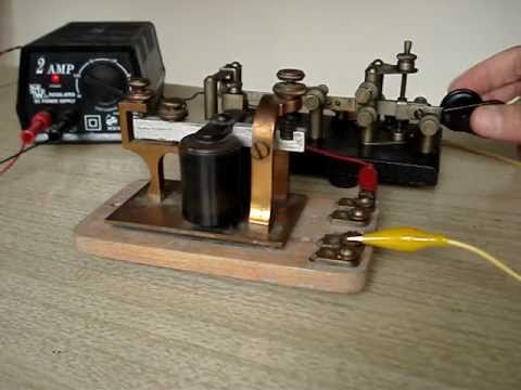 How to connect a Bunnell telegraph sounder