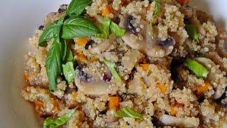 Quinoa And Crimini Risotto