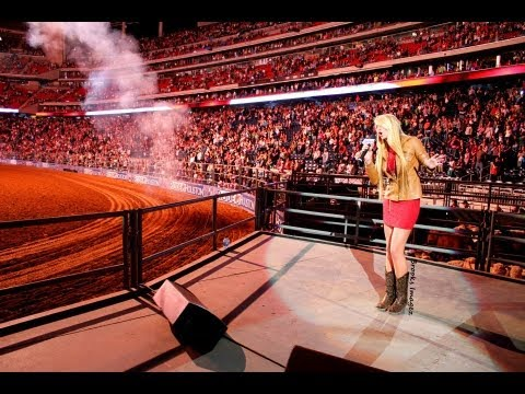 Julia Cole Performing The National Anthem At The 2013 Houston Live Stock Show And Rodeo