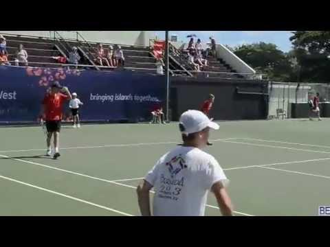 Tennis Men's Doubles Final Island Games 19 July 2013