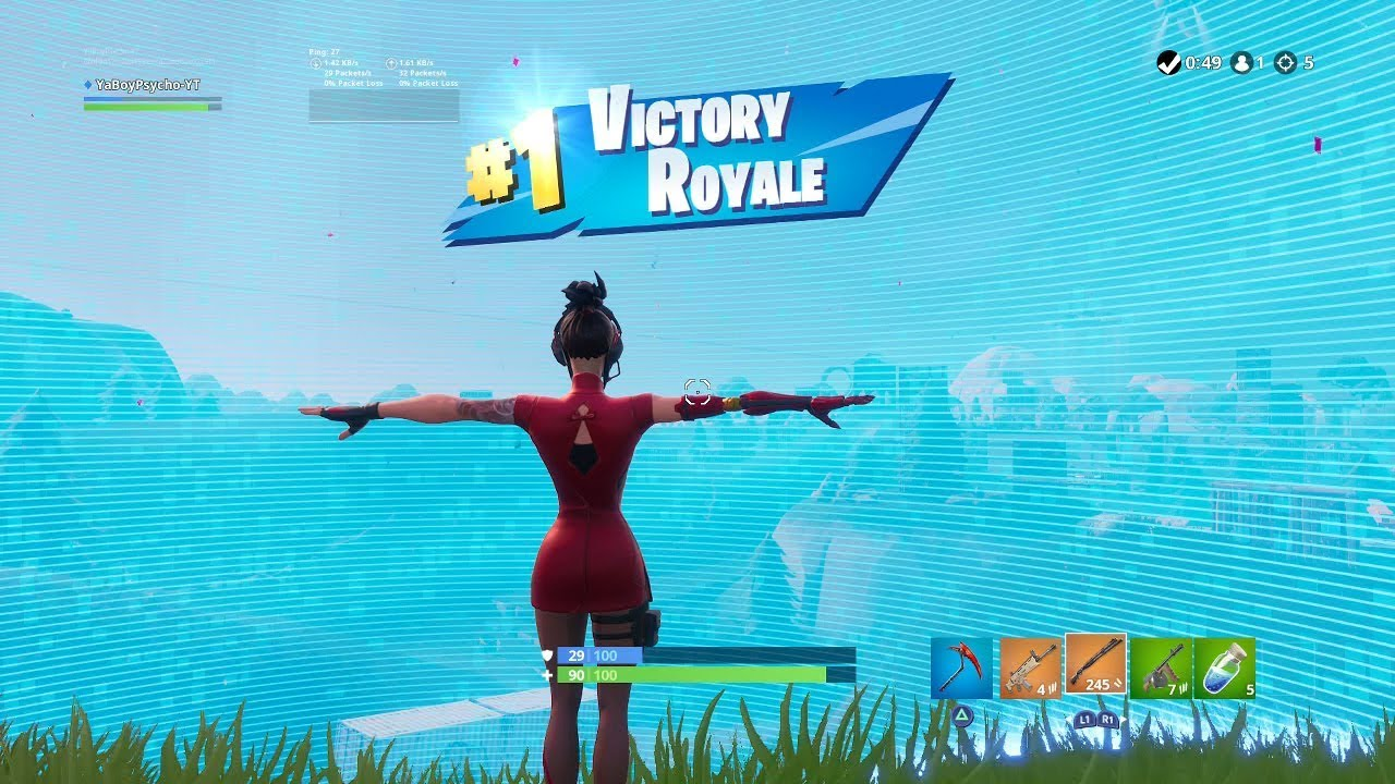 """Download FORTNITE First Win with """"DEMI"""" SKIN (FEMALE """"CYBORG"""" OUTFIT Showcase) 