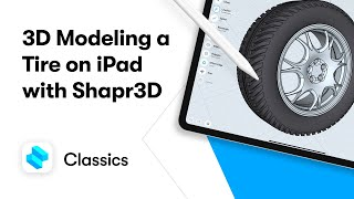 3D modeling a tire on iPad with Shapr3D