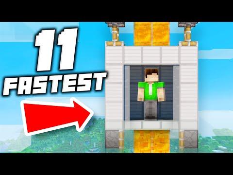 11 Fastest Elevator Designs Ever In Minecraft 1.15!