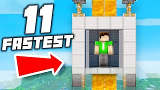 11 Fastest Elevator Designs Ever in Minecraft 1.15!