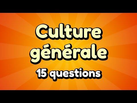 QUIZ : CULTURE GÉNÉRALE - 15 QUESTIONS (FACILE)
