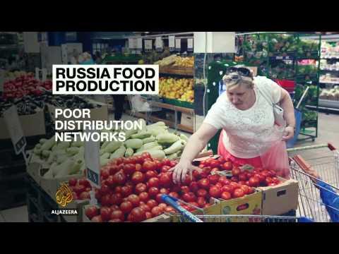 Russian farmers seek profit from food embargo