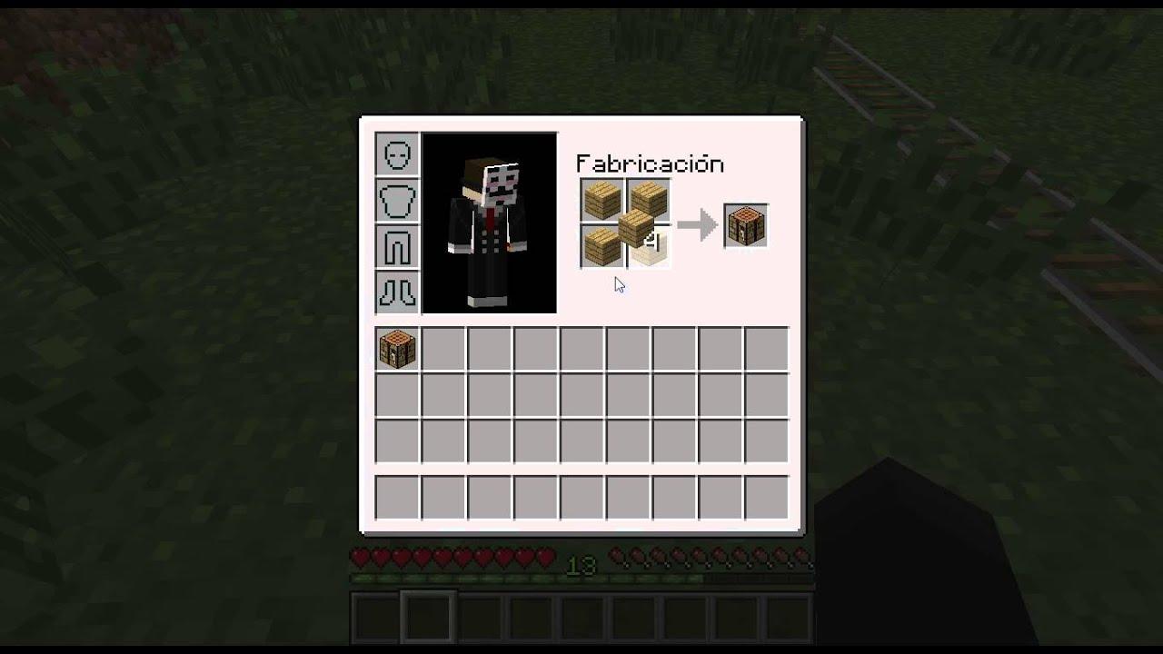 Como hacer una mesa de trabajo en minecraft 1 5 2 youtube for Como disenar una mesa
