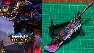 How to make Hanzo Sword | Mobile Legends new hero - Polymer Clay