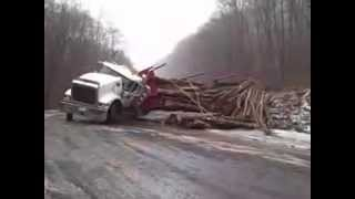 Tractor Accident Logging Truck Accident Burnout New 2015