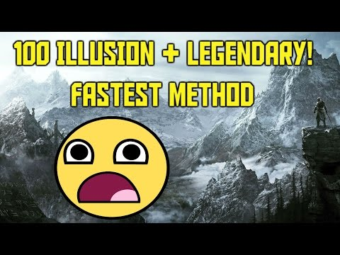 Skyrim Level 100 Illusion Fast and Easy!! 100 Legendary Illusion! Fastest Method!