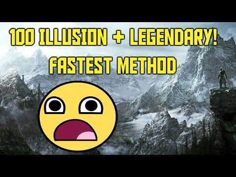 Skyrim Level 100 Illusion Fast and Easy!! 100 Legendary Illusion! Fastest Method!