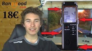 Un bon enregistreur audio numérique à 18€ ?! / Banggood