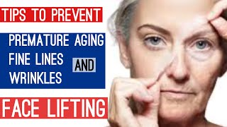 How to prevent wrinkles fine lines aging signs open pores Face lifting mask Wrinkle repairing mask