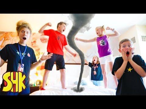 Ninja Kidz and SuperHeroKids vs Mysterious Villain Tornados!