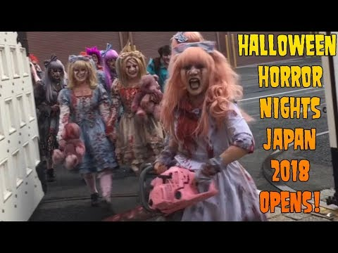 Halloween Horror Nights Japan OPENING DAY 2018