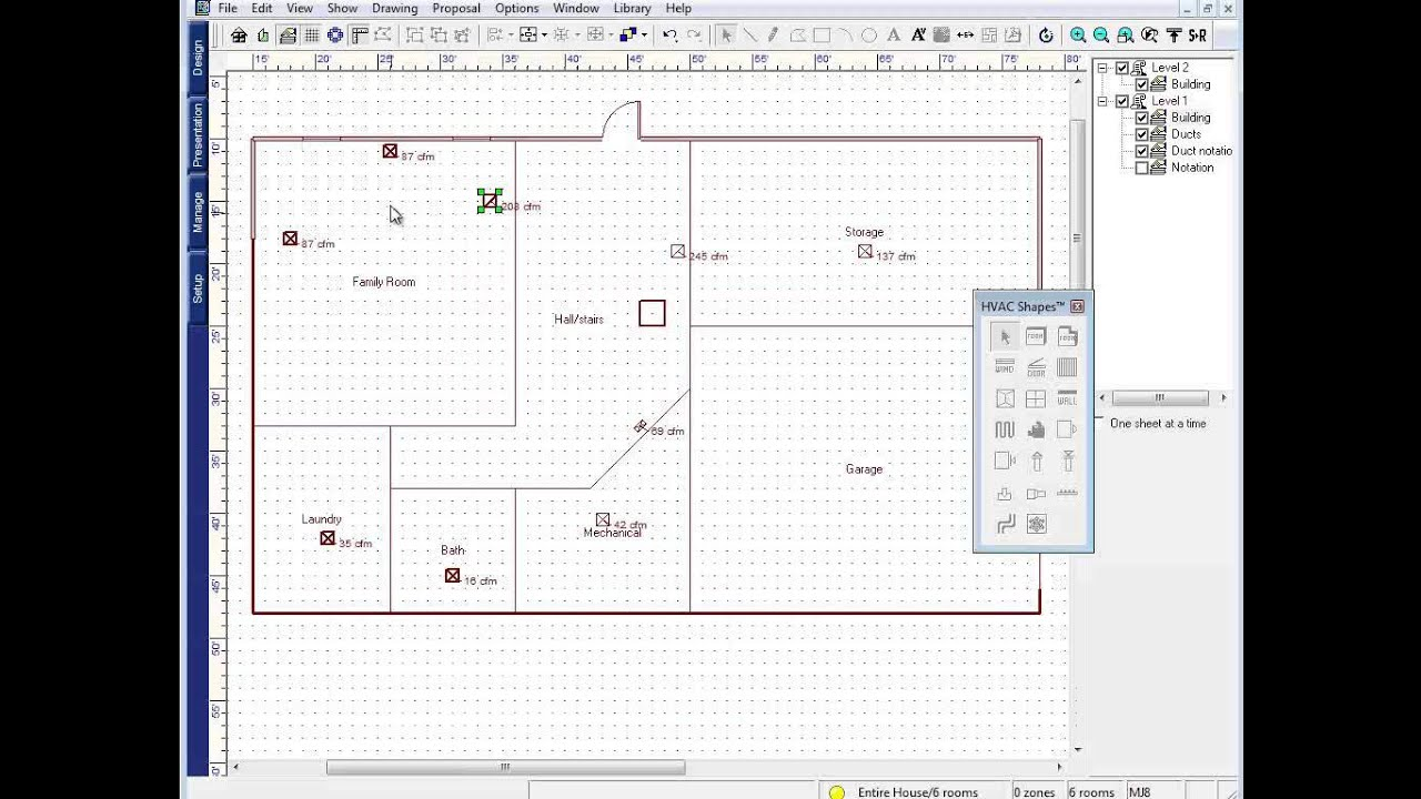 Wrightsoft] Duct Design: Supply and Return Register Assignment ...