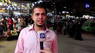 حركة تسوق نشطة في مدينة الرمثا استعداداً لعيد الفطر (3/6/2019)