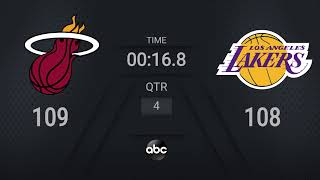 Heat @ Lakers Game 5 | NBA on ABC Live Scoreboard | #NBAFinals Presented by YouTube TV