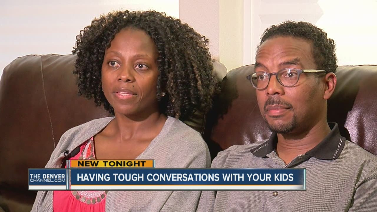 African American families having tough conversations at home