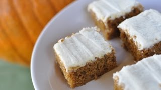 How To Bake Pumpkin Bars With Cream Cheese Frosting