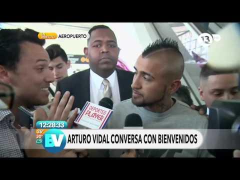 La llegada de Arturo Vidal a Chile | Bienvenidos