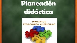 Repeat youtube video Planeacion Didactica