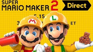 Super Mario Maker 2 Direct LIVE REACTION