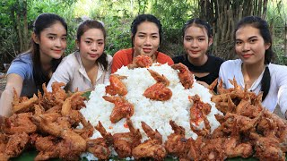 Wow yummy cooking chicken wing crispy recipe with rice