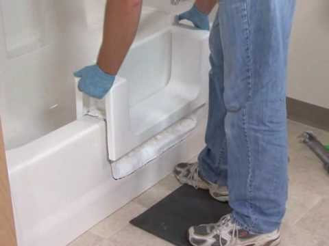 Safeway Step Bathtub Accessibility Modification - YouTube