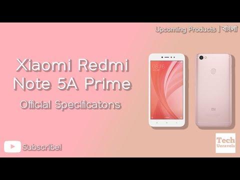 Xiaomi Redmi Note 5A Prime Quick Specifications (Bangla)