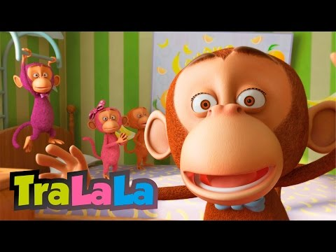 Cinci maimuțele (Five Little Monkeys în română) | TraLaLa
