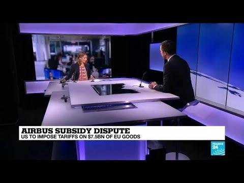US to impose tariffs on $7.5 billion in EU goods over illegal Airbus subsidies
