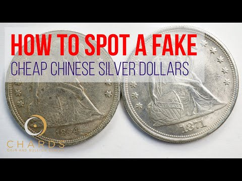 How To Spot A Fake [1] : Cheap Chinese Silver Dollars