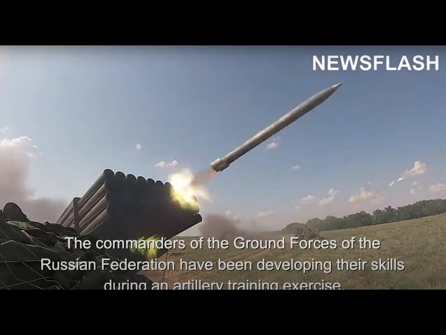 Russian Ground Forces In Large-Scale Artillery Training