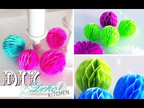 Dekoration selber machen geburtstag  DIY: Wabenbälle für Party-Deko einfach selber machen | Deko ...
