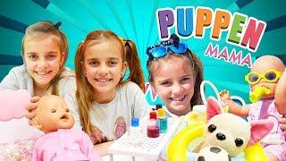 Ein Stunde mit der Puppen Mama. Spielzeugvideo für Kinder auf Deutsch