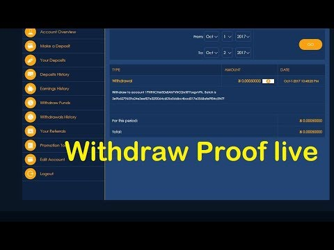 Bitcosmos Withdraw Proof live | Investment Site Payment Proof Paying Site Review 2017