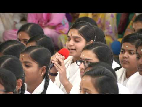 Gratitude Program by the girl students of Sri Sathya Sai Higher Secondary School - 19 Feb 2016