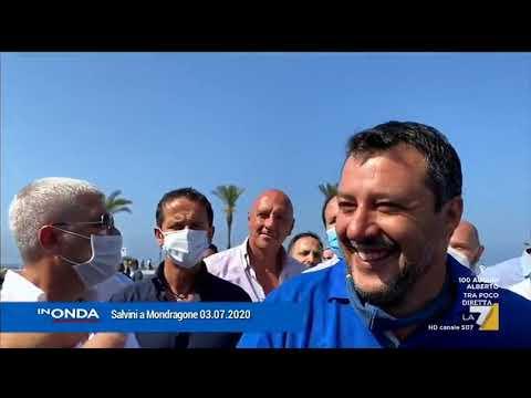 Salvini a Mondragone, andata e ritorno