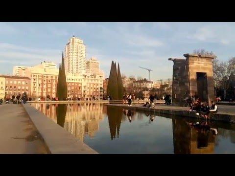 Visitar Madrid(travel to Madrid): Que ver en Templo de Debod, atardecer, Palacio Real, La Almudena.