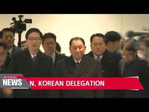 N. Korean delegation arrives in S. Korea for Olympic closing ceremony