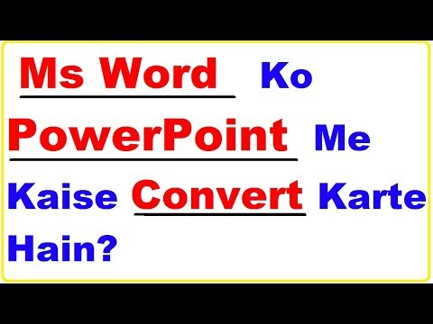 How To Convert Word To Powerpoint In Hindi