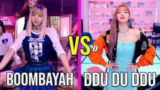 BLACKPINK BOOMBAYAH VS BLACKPINK DDU DU DDU DU (RAP,VOCAL,DANCE ,CLOTHES AND MORE)