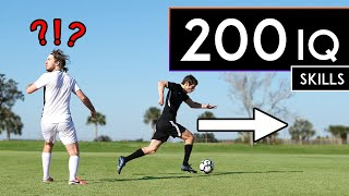 200 IQ FOOTBALL (SOCCER) SKILLS that FOOL DEFENDERS