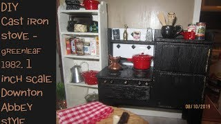 Stove  build cast iron miniature stove kitchen range from wood