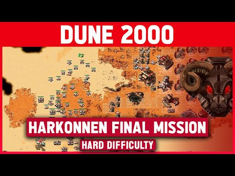 Dune 2000 - Harkonnen Final Mission (Top Map) - Hard Difficulty - 1920x1080