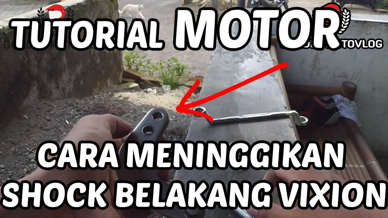 Cara Memasang Conrod Peninggi Shockbreaker Belakang Yamaha New Unitrek Vixion Vs Scorpio Youtube